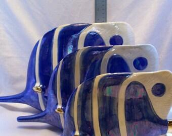 Ceramic Fish, Trigger Fish, Ceramics And Pottery, Blue Fish, Ceramic Fish