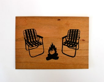 Chairs - Screen print on wood veneer // Chaises - Sérigraphie sur placage de bois