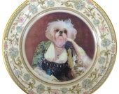 Portrait of a Shih Tzu  - Altered Vintage Plate 6.5""