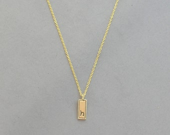 Gold Plated Initial h Necklace