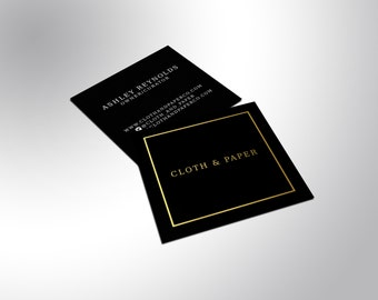 Foil Business Cards Gold Silver or Copper