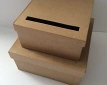 DIY Wedding Card Box, Rustic Wedding Card Holder, Gift Card Holder for Wedding, Medium Size