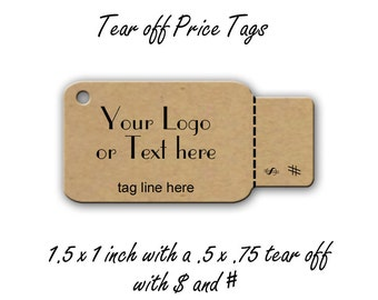 Perforated Price Tags - Price Tags - Jewelry Tags - Product Tags - Packaging- Jewellery Cards