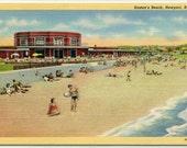Easton's Beach Scene Newport Rhode Island linen postcard