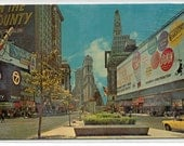 Times Square New York City NYC NY 1960s chrome postcard