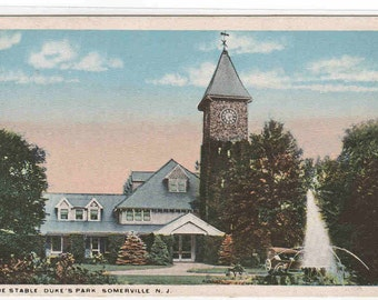 The Stable Duke's Park Somerville New Jersey 1920c postcard