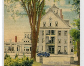 Thayer's Hotel & Grill Littleton White Mountains New Hampshire 1949 linen postcard