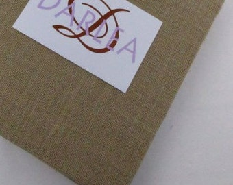 Burlap Photo Album Rustic Wedding Album Personalized engagement anniversary picture book 4x6 5x7 8x10