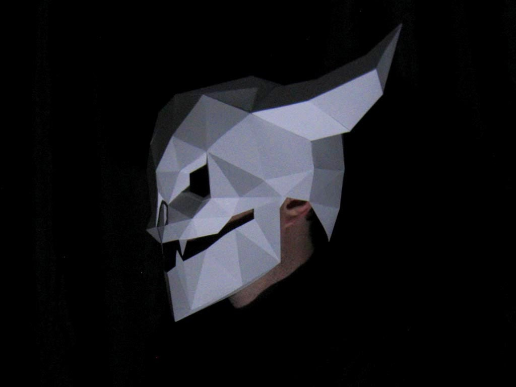 Halloween Mask Patterns - Three in One! Make Your Own Devil Skull ...
