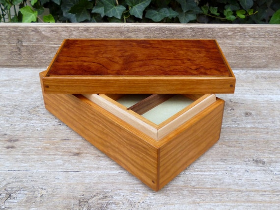 Like this item? & Wooden Keepsake Box w/ Small Lift Out Tray Cherry and Bubinga Aboutintivar.Com