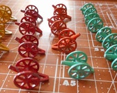 Lot of 16 Painted Metal Cannons 1950s War Board Game Tokens