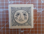 Sun Face Rubber Stamp by Paula Best 9734-B