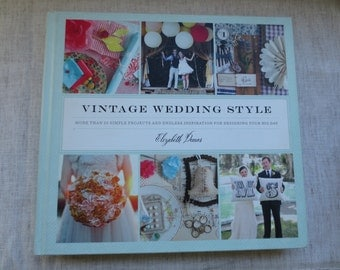 Beautiful hard cover wedding planning book vintage style. Lot of 1 book.