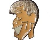 JERRY LEWIS Comedian vintage enamel pin pinback badge pinback shiny white teeth