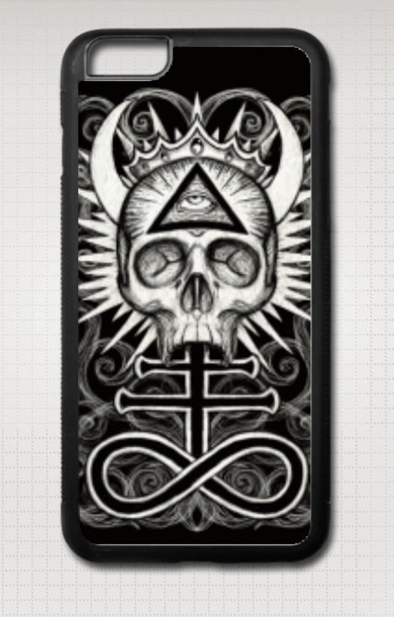 Illuminati Skull iphone case
