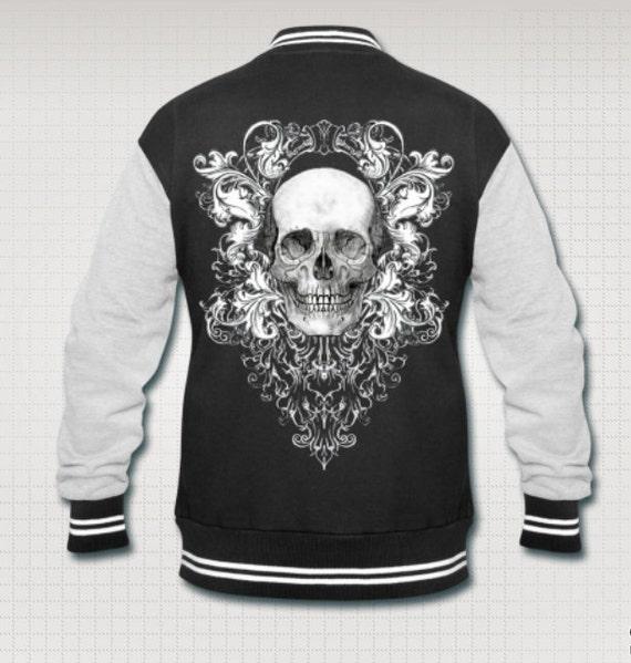 Baroque Skull varsity jacket