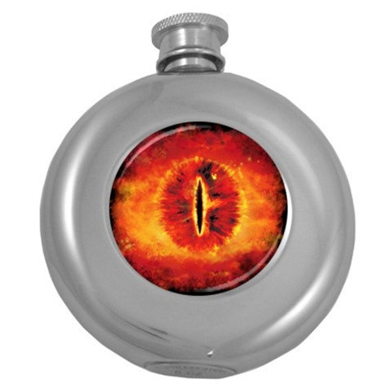 Eye of Sauron 5 oz hip flask