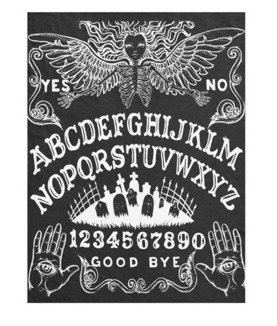 Ouija Board Angel fleece throw blanket
