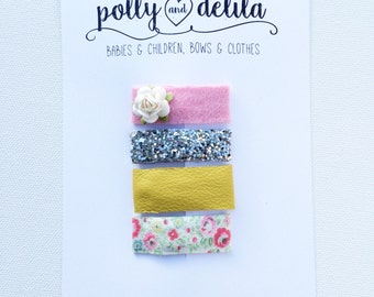 Bitty baby snap clips set of 4-perfect for babies and toddlers