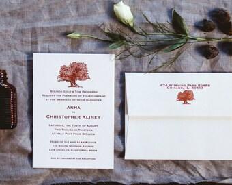 The Morrison -- Letterpress Wedding Invitations - sample pack