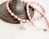 Pink Pearl Necklace, Freshwater Pearl Necklace