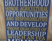 FFA Members why are we here?? Future Farmers of America FFA Opening Ceremony Advisor Teacher Classroom Officer Agriculture Member