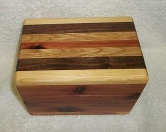 Handcrafted Cedar Box with Multi-Wood Top - Recipes - Treasures