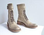 Vintage 1980s VALENTINI leather boots / 8