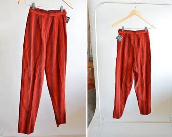 Vintage 1960s STATEMENT cord cigarette pants