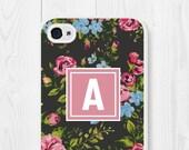 iPhone 6s Case - Floral iPhone 6 Case - Monogram iPhone 5 Case - Cute Phone Case - Samsung Galaxy S5 Case - Samsung Galaxy S6 Case - Flowers