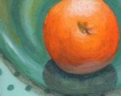 Food Art, Original Acrylic Mini Painting, Small Still Life Painting Kitchen Art