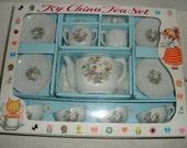 SALE...Toy China Tea Set.  Lillian Vernon.