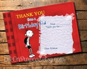 Diary of a Wimpy Kid Thank You Card