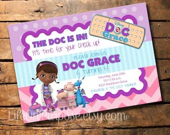 Doc mcstuffins birthday party food tags jpg 340x270 Doc mcstuffins handmade invitations