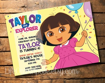 Dora the Explorer Birthday Party Invitation