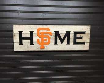 San Francisco Giants HOME plaque, sign