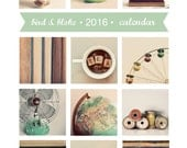SALE 30% OFF - 2016 Calendar, Photography Calendar, Desk Calendar, Photo Calendar, 5x7, Retro, Fine Art Prints, Modern, Minimal, Frameable