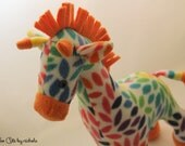 Colorful Orange Giraffe Plush Toy