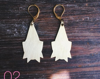 02 // Brass Spike Earrings // made to order