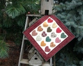 Country Hearts  Hand Quilted Wallwarmer