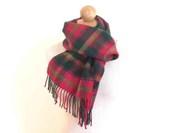 scottish wool scarf scottish tartan scarf vintage scarves