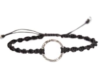 Karma Bracelet. 14k solid white gold. Infinity bracelet. Circle bracelet