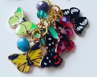 Ultimate,unique, ooak, Secret garden, butterfly, butterflies, mix colour, Summer, by NewellsJewels on etsy