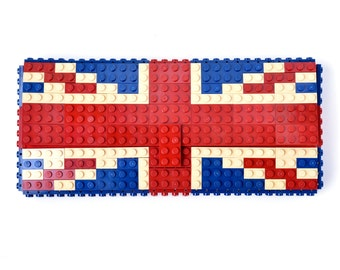 British flag clutch purse made with LEGO® bricks FREE SHIPPING purse handbag legobag trending fashion lego gift