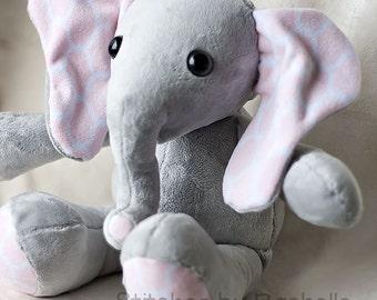 "CUSTOM 18"" Flora the Cuddly Elephant Stuffed Animal | Stuffed Elephant | Toys | Elephant | Elephant Softie | Plush Elephant"
