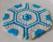 Vintage Crochet Potholder Home Kitchen Decor