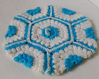 Vintage Crochet Potholder Home Kitchen Decor