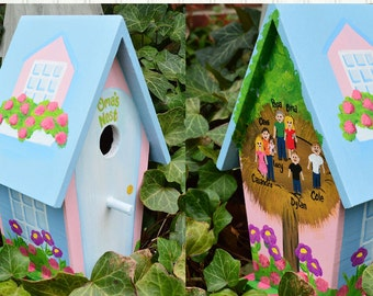 Grandma, Mom Personalized Birdhouse