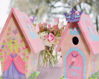 Hand Painted Birdhouse, Princess, Decorative, Personalized