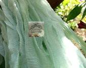 Sea Moss Silk Chiffon Ribbon